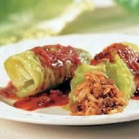 I've been craving my mother's Cabbage Rolls, and found the recipe on the Texas Recipes tumblr site - Easy to make, just boil the cabbage leaves, add cooked rice and ground beef, place in casserole dish, cover with tomato sauce and bake.  So good, even better the next day. TIP: I use Penzey's Forward seasoning in these, but you could use any seasoned salt and pepper. ~~  Houston Foodlovers Book Club
