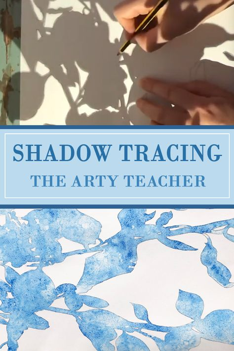Creating with Shadows - Home Learning Video - Home Learning Art Project - The Arty Teacher - Shadow art - Shadow tracing is an ideal home learning activity for children to complete at home. This video show - Middle School Art, Art School, High School Art Projects, Art Education Projects, Art Education Lessons, Tracing Art, Shadow Art, Shadow Drawing, Learn Art