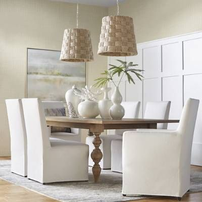 Campbell Dining Table Frontgate In 2021 Dining Table Cloth Organic Dining Room Dining Arm Chair