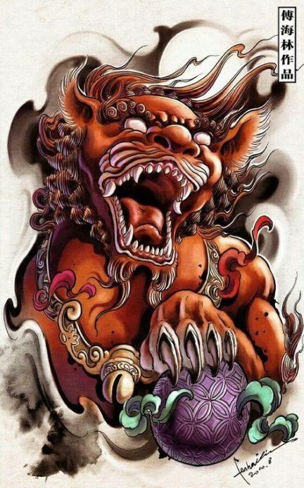 46 Ideas Tattoo Dog Color Foo Dog Tattoo Design Dog Tattoos Japanese Tattoo