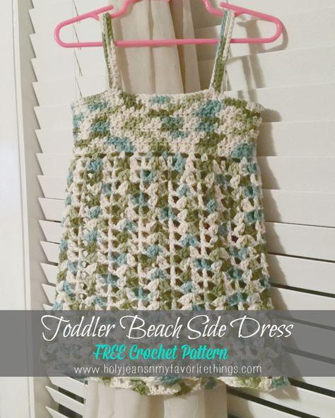 Free Crochet Pattern - Girls' Summer Beach Dress/Cover Up | Holyjeans  My Favorite Things