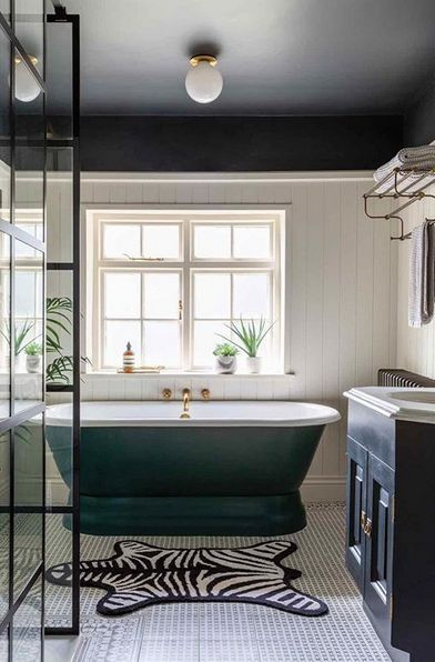 Paint Colour Trends For 2020 The New Key Colours To Paint Your House In In 2020 Black Ceiling Bathroom Wallpaper Trends Green Bathroom