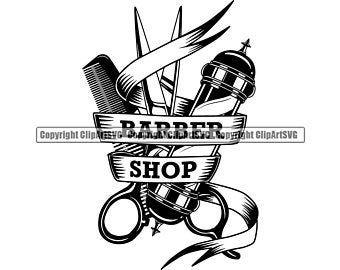 Barber Hand Holding Clippers Chair Shop Barbershop Salon Pole Etsy Shave Designs Unique Artwork Shop Chair
