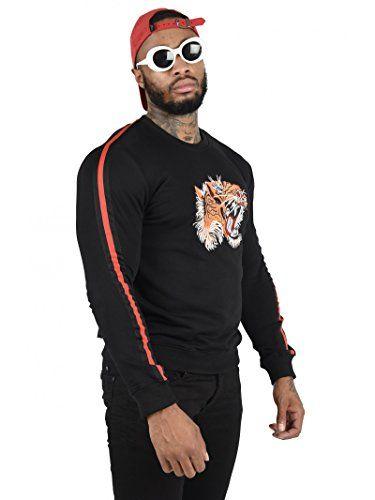 Project X Paris Sweat Tigre Bandes sur Les Manches Homme Noir ... 8835c29dc2e