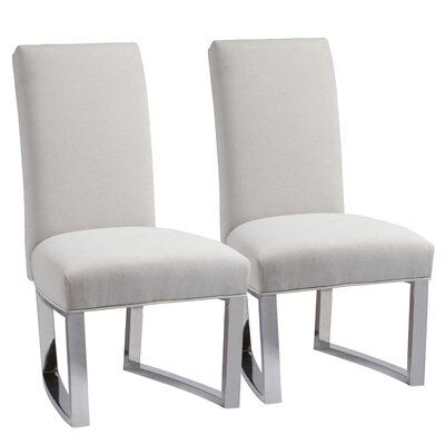 Rosdorf Park Linneus Upholstered Dining Chair Wayfair In 2020 Dining Chairs Comfortable Dining Chairs Solid Wood Dining Chairs