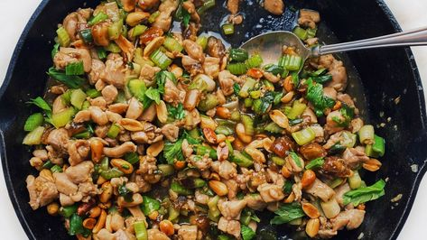 Spicy Chicken Stir-Fry With Celery and Peanuts Recipe | Bon Appétit