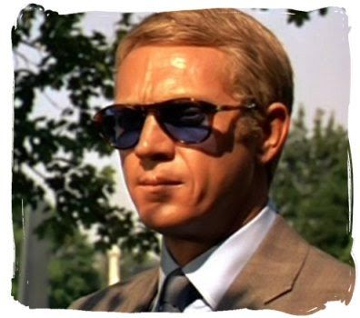 7504b8e12c Steve McQueen and his Persol 649 with custom blue lenses.