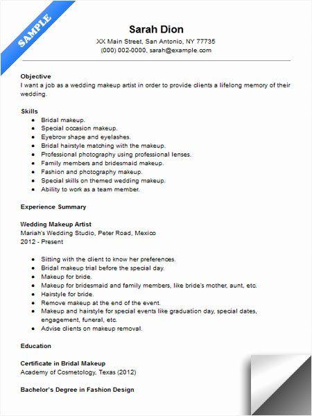 20 Photographer Job Description Resume In 2020 Makeup Artist