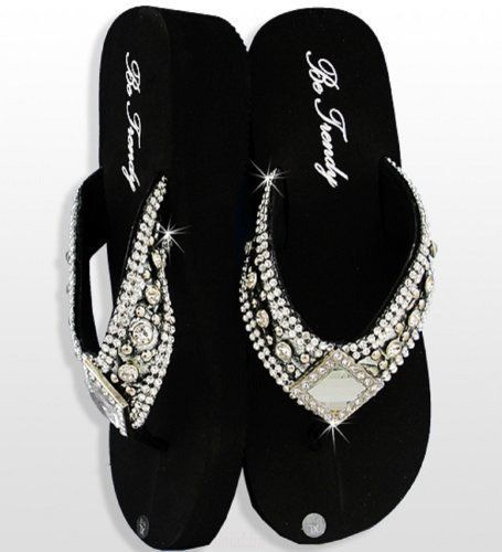These Beautiful Rhinestone Flip Flops Are Very Comfortable They