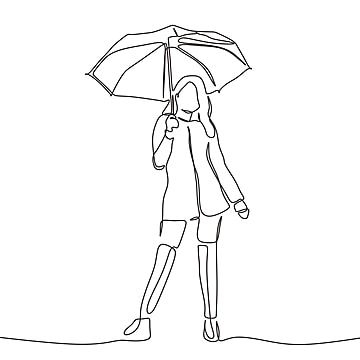Dibujo De Una Linea Continua De Mujer Sosteniendo Paraguas Paraguas Hembra Aislado Png Y Vector Para Descargar Gratis Pngtree Dibujo De Lineas Continuas Dibujo Mujer Dibujo Con Lineas
