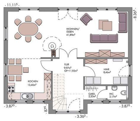 Landhaus Mit Offenem Blick Eco System Haus Haus Grundriss Landhauser Grundriss Gartenhaus Selber Bauen