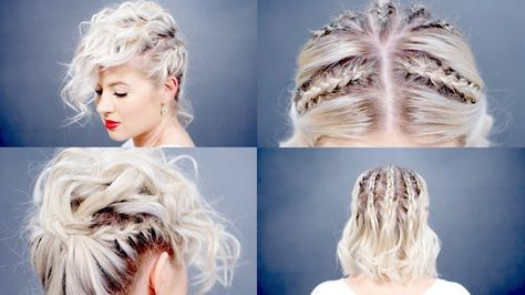 Creative Short Hairstyles Tutorial Milabu Youtube Hair Styles Short Hair Styles Retro Hairstyles Tutorial