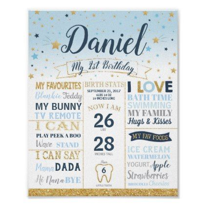 Twinkle Little Star 1st Birthday Milestones Stats Poster Zazzle Com Milestone Birthdays First Birthday Posters Birth Stats Sign