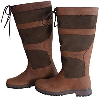 New Tefaneso Women S Waterproof Leather Country Riding Boots W Free Carrying Bag Online Favoritetopfashion Riding Boots Boots Country Boots