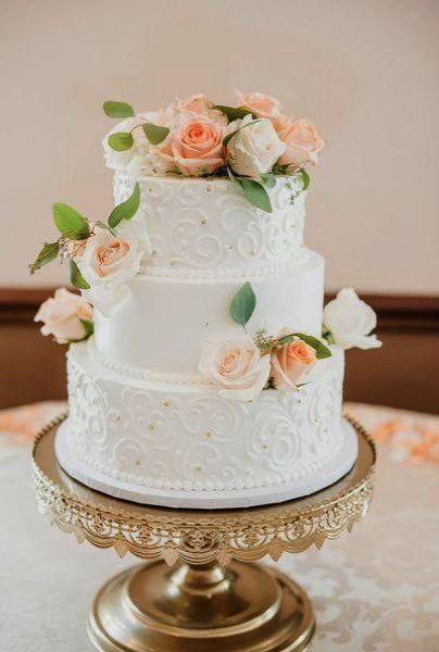 Simple Wedding Cake Photos Also Simple Elegant Wedding Cake Bbc Case Wedding Inv Bbc Simple Wedding Cake Wedding Cake Fresh Flowers Floral Wedding Cakes