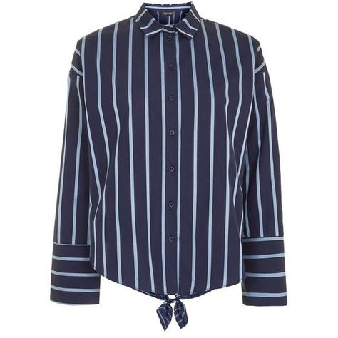 TOPSHOP Oversized Stripe Satin Shirt