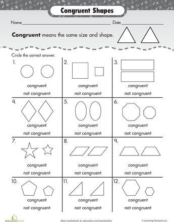Congruent Shapes Worksheets 4th Grade Printable Worksheets Are A Precious School Room Tool They Not Basically Supp In 2021 Math Strategies Homeschool Math Math Work Congruent and similar figures worksheets