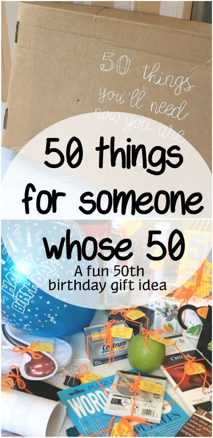 Fun 50th Birthday Gift 50 Things For Someone Who Is 50 Sum Of Their Stories Craft Blog 50th Birthday Gag Gifts 50th Birthday Presents 50th Birthday Gifts Diy