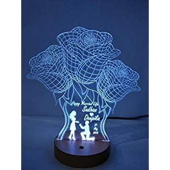 Design Elle Acrylic Modify 3d Illusion Led Lamp 8 10inch Wooden Best Gifts For Couples 3d Illusions Photo Lamp