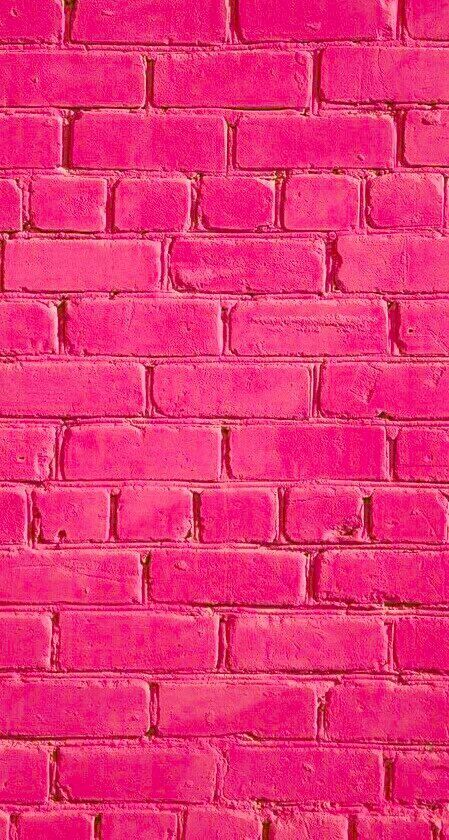 Hot Pink Brick Aesthetic Hot Pink Walls Pink Walls Picture Collage Wall