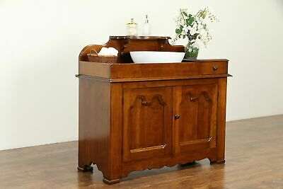 Details About Cherry Antique Dry Sink Vessel Sink Vanity Changing Table 31647 Antique Dry Sink Vessel Sink Vanity Dry Sink