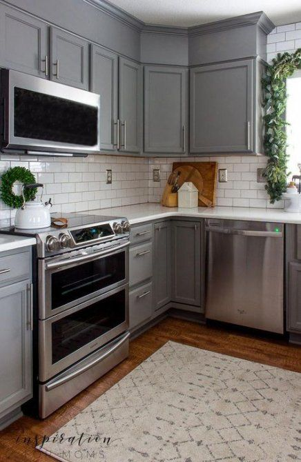 Gray Kitchen Cabinets With Red Walls Red Kitchen Walls Kitchen