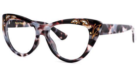 2fa0cbc6bd Retro Leopard Cat Eye Glasses