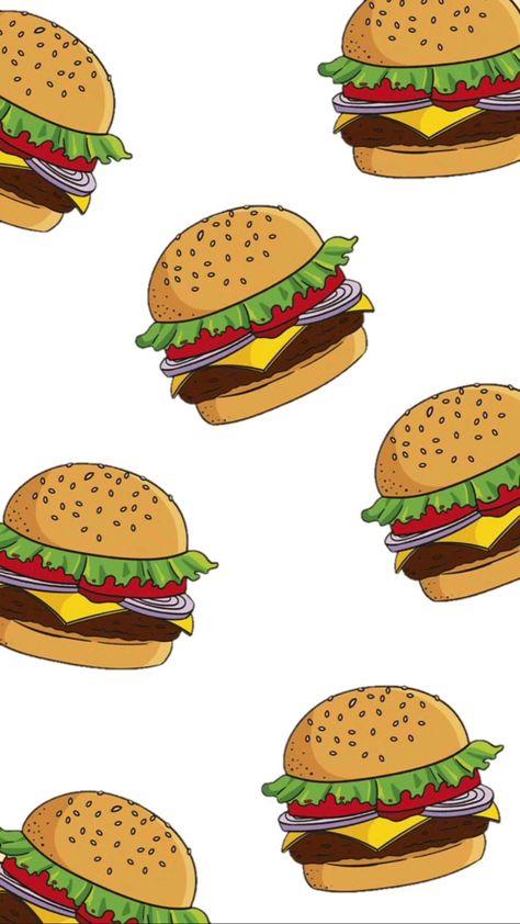 An illustration of food one of my favourites. Burger digital illustration.