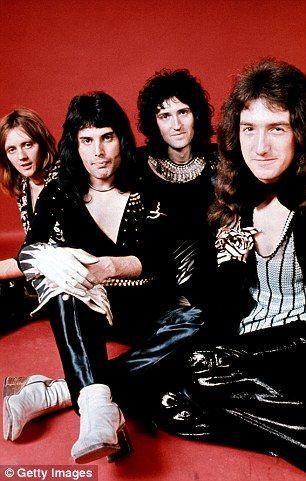 Drummer Roger Taylor, singer Freddie Mercury, guitarist Brian May and bassist John Deacon...
