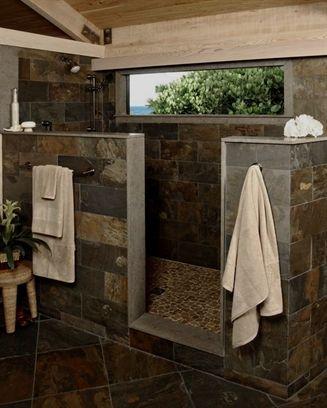 Red Mosaic Tile Rustic Bathroom Designs Bathrooms Remodel Bathroom Farmhouse Style