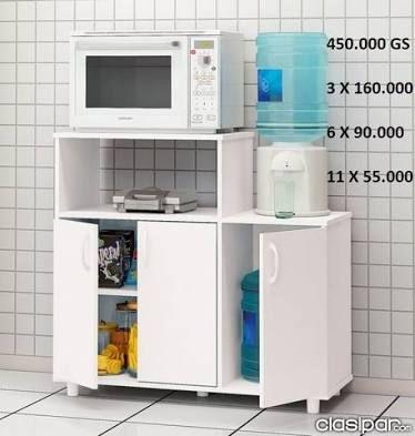 Resultado De Imagen Para Muebles Para Microondas Y Hornos Muebles Para Despensa Alacenas Para Cocinas Pequeñas Muebles Multiuso