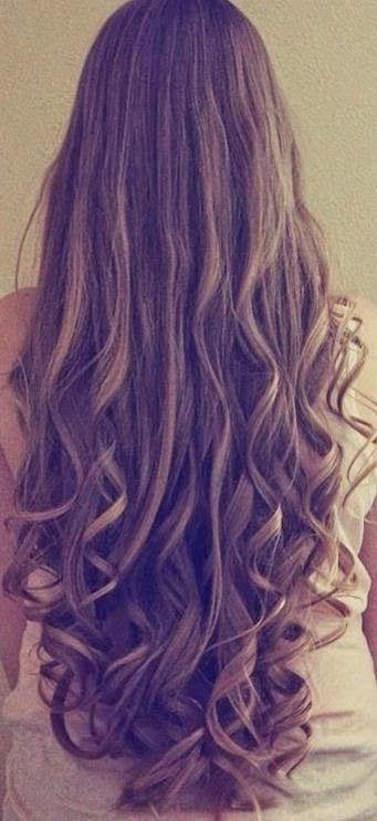 Hair down with curls - Cabello suelto con rizos