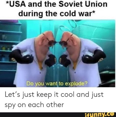 Usa And The Soviet Union During The Cold War Let S Just Keep It