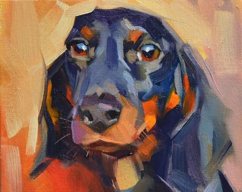 Dog oil portrait Custom pet portrait Pet oil painting Dog | Etsy