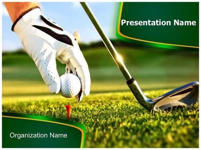 Golf Ball Powerpoint Template Backgrounds Template
