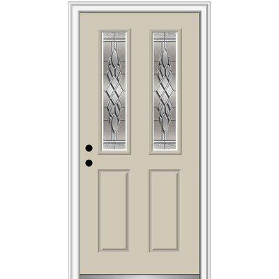 Verona Home Design Fibreglass Smooth 2 1 2 Lite 2 Panel Single Entry Door Finish Wicker Door Size 80 H X 34 W X 1 75 D Door Orientation Right Aluminum Screen Doors Vinyl Screen