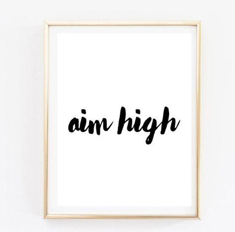 Enjoyable Aim High Handwritten Inspirational Tumblr Quote Typographic Download Free Architecture Designs Scobabritishbridgeorg