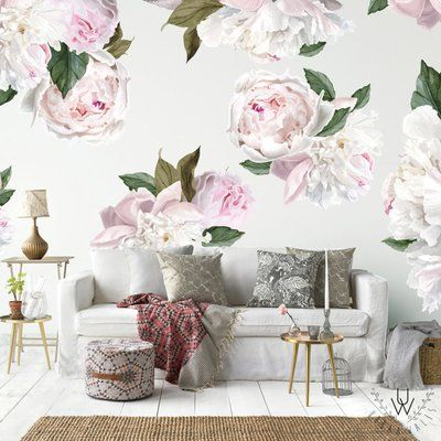 Urban Walls 26 Piece Peonies Wall Decal Set Wayfair Floral