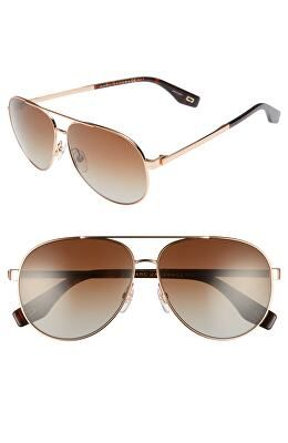a0585bcce1a4 MARC JACOBS Designer 61mm Polarized Metal Aviator Sunglasses | Women ...