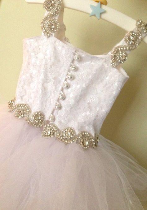 a912e51ab46 Flower Girl Dress - Lace Dress - Girls Lace Dress - Big Bow Dress ...