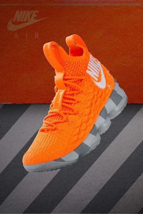 113bdb2f6b6 Nike LeBron XV 15 XV KS2A Orange Box AR5125 800 Men s Sneakers  Size 11.5   NIB  fashion  clothing  shoes  accessories  mensshoes  athleticshoes (ebay  link)