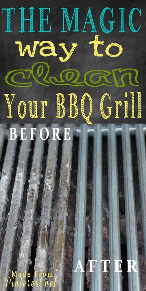 Magic way to clean your BBQ grill without scrubbing!