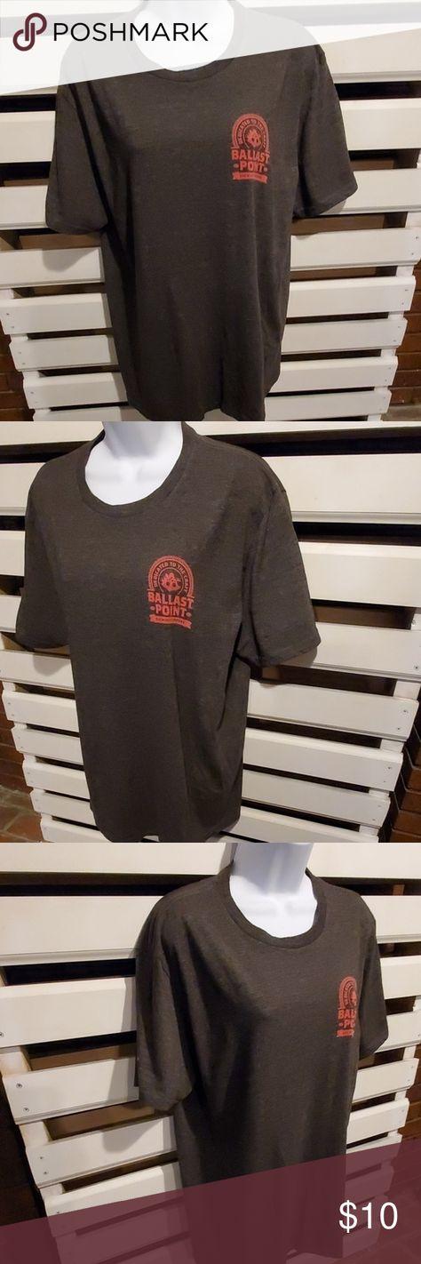 BALLAST POINT tshirt.        #472 Grey tshirt.. short sleeve.. pull over.. Ballast Point Brewing Company.. Piper Down Scottish Ale.. ballast point Shirts Tees - Short Sleeve