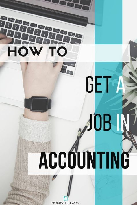 How to Break into Accounting