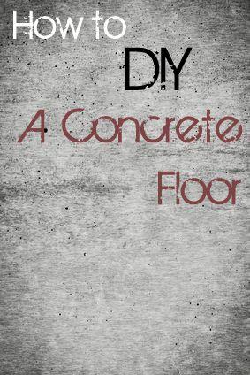 Diy concrete floor this bargain version is so easy to create diy diy concrete floor this bargain version is so easy to create diy concrete concrete floor and concrete solutioingenieria Choice Image