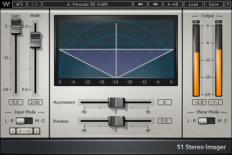 S1 Stereo Imager Waves Plugins Recording Studio Home Audio Mastering