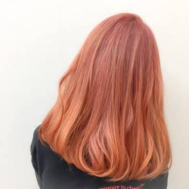 ハイトーン 外国人風 アプリコットオレンジ の画像検索結果 髪色