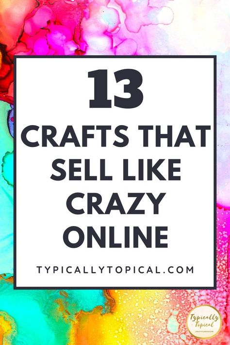 Money Making Crafts, Crafts To Make And Sell, Sell Diy, Make Money From Home, How To Make Money, Making Things To Sell, Extra Cash, Extra Money, What To Sell Online