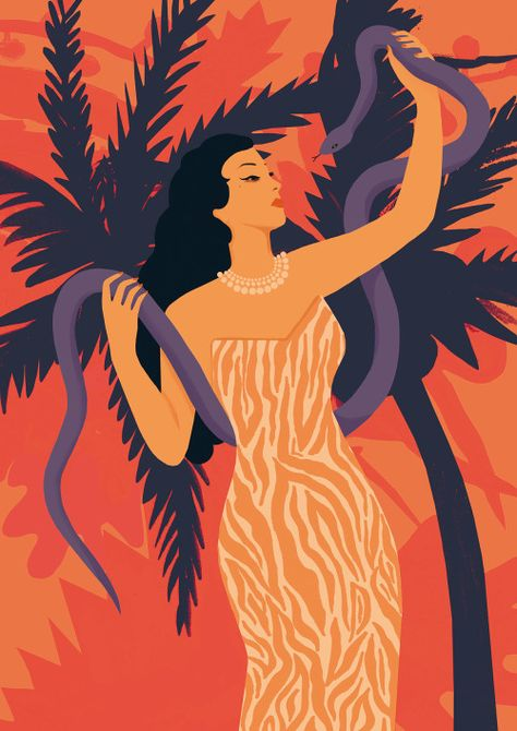 Beautiful illustration of Yma Sumac!