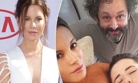 Kate Beckinsale is teased by ex-partner Michael Sheen